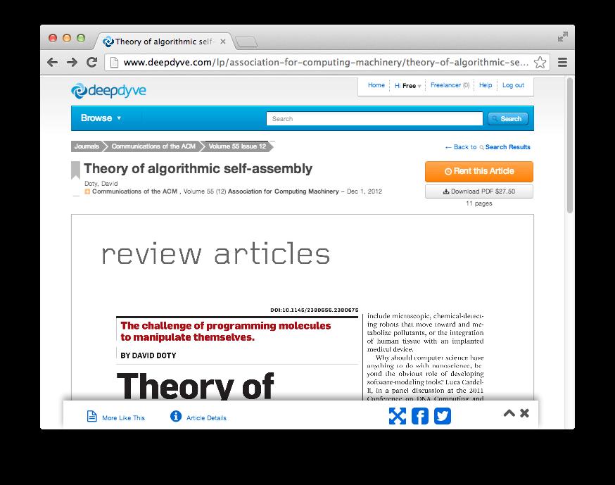El futuro de las revistas académicas ha llegado:DeepDyve