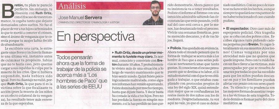Sobre el caso Bretón, en el Periódico de Catalunya