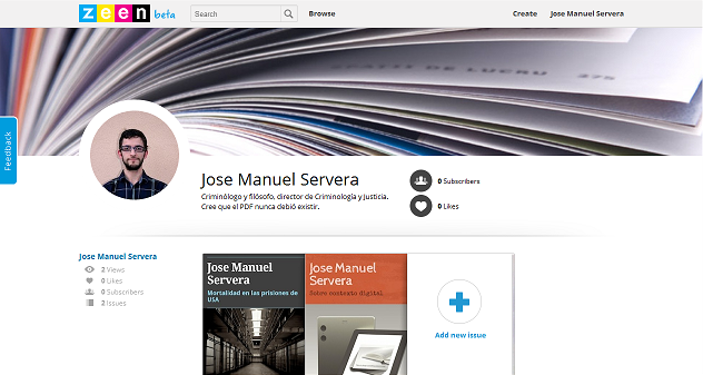 Trasteando con Zeen, nueva plataforma de creación de revistas digitales