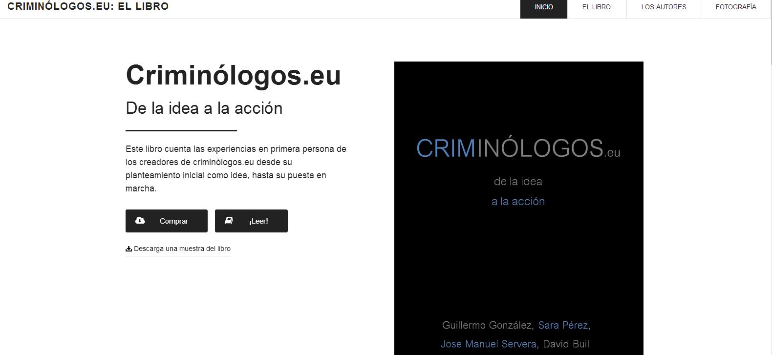 Nuevos capítulos de «Criminólogos.eu : de la idea a la acción»