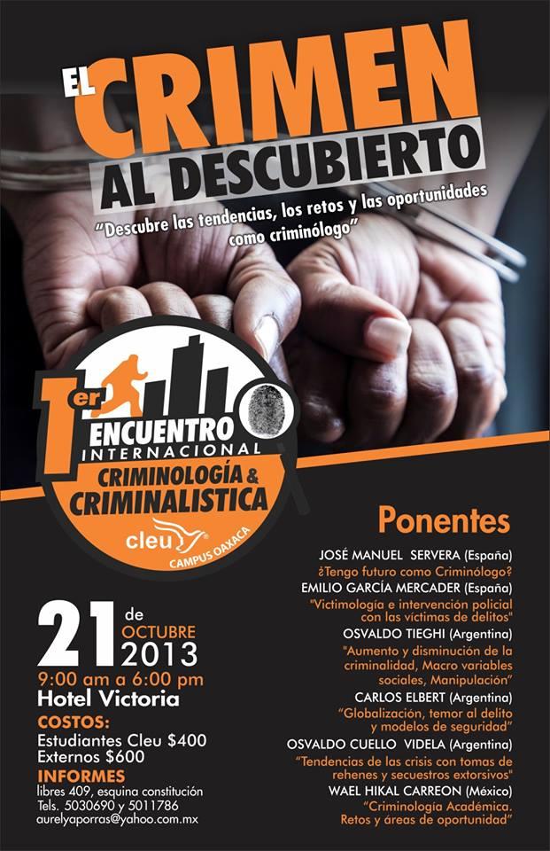 Próximamente en México: Emprendimiento Criminológico y más