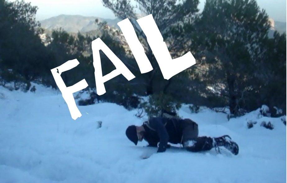 Entrenamiento FAIL en la nieve en Mallorca